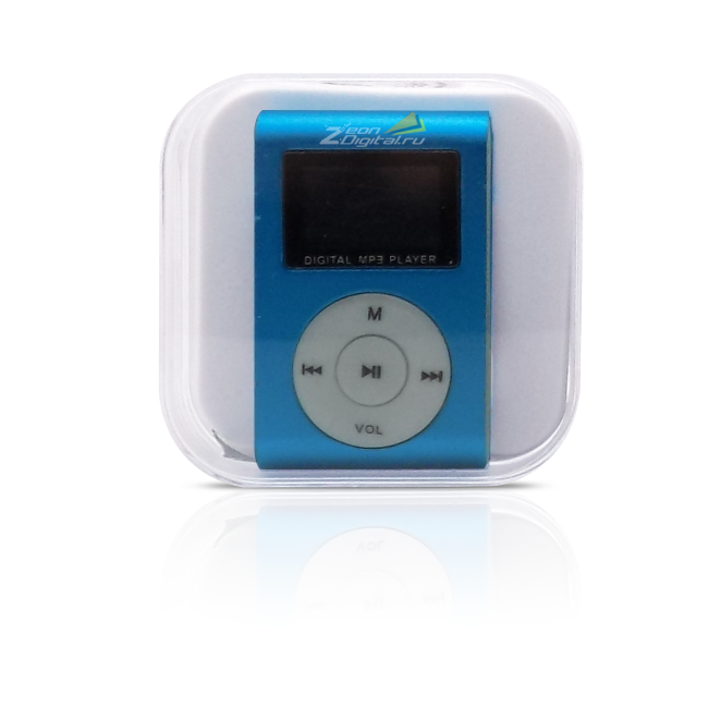 Perfeo VI-M001 Music Clip Titanium Display Blue
