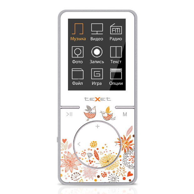 teXet T-48 (8Gb) White/Orange  IMG